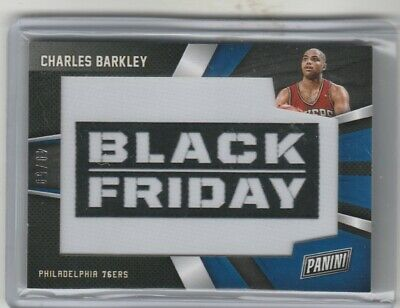 CHARLES BARKLEY 2018 PANINI BLACK FRIDAY PATCH 0650