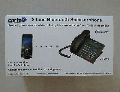 NEW Cartel CT-5100 Bluetooth Desktop Home or Office Phone