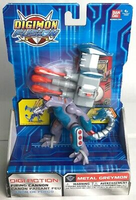 Bandai Digimon Fusion Metal Greymon Digi-Action Figure New 2013 Missing Head