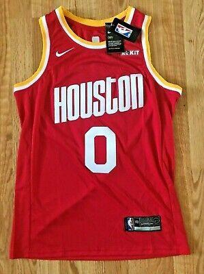 NBA Russell Westbrook Houston Rockets Jersey Stitched Mens Medium American NWT