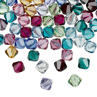 25pcs 3mm SWAROVSKI CRYSTAL FACETED BICONE BEADS - You Choose the Color