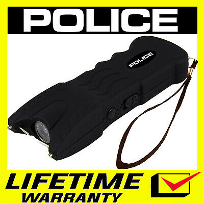 POLICE Stun Gun BLACK 916 550 BV Heavy Duty Rechargeable LED Flashlight