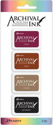 Ranger Mini Archival Ink Pads 2 4 and Wendy Vecchi Sets 1 2 3