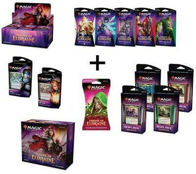MTG Magic Throne of Eldraine Booster Box Bundle Brawl PW Decks Themes Collector