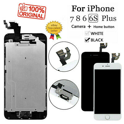 For iPhone 6S 8 6 7 Plus LCD Dispaly Touch Screen Complete Replacement - Button