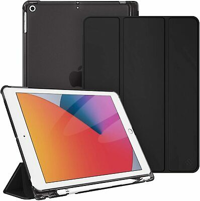For iPad 7th Generation 10-2 inch 2019 Slim Shell Case Translucent Back Cover