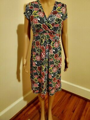 Boden Abstract Floral Knit Sheath Dress size 16