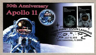 2019 - 50TH ANNIVERSARY MOON LANDING  THEROME CACHET FIRST DAY COVER