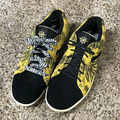 Supra men's shoes size 13 skateboard black yellow Yellowing Fronts