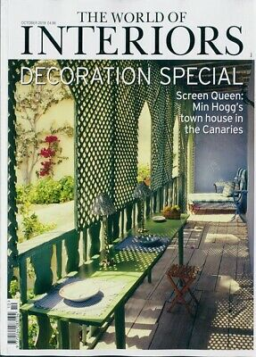 THE WORLD OF INTERIORS MAGAZINE OCTOBER 2019 THE DECORATION SPECIAL BRAND NEW