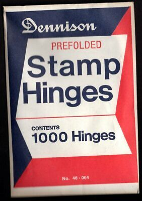 1 UNOPENED PACK OF 1000 DENNISON PRE-FOLDED HINGES only 14-75 Free shipping