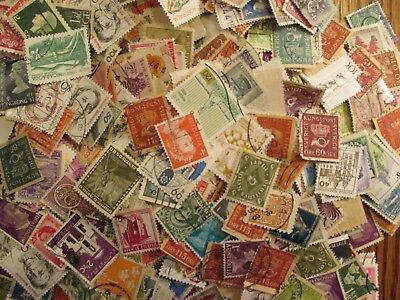 HENRYS STAMPS-1000 WORLDWIDE-SMALL FORMAT-USEDOFF PAPER-MOSTLY EUROPE -