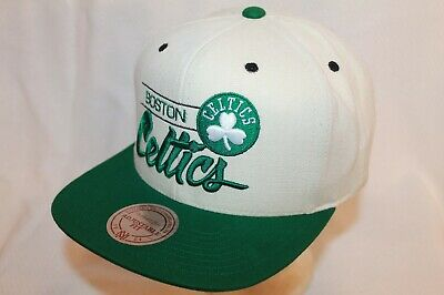 Boston Celtics Hat Cap City Bar Script Snapback Cap by Mitchell - Ness NBA