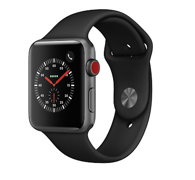 Apple Watch Series 3 42mm Aluminum Case Space Gray GPS- Cellular