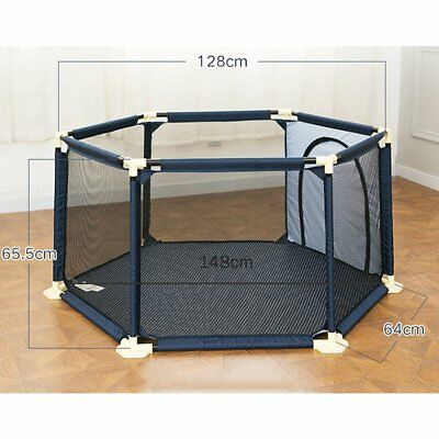 Folding Portable Playpen Baby Play Yard With Travel Bag Indoor Outdoor Safety WY