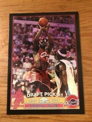 2003-04 Topps Black Chrome LEBRON JAMES 111 Cavaliers Reprint Rookie Card MINT