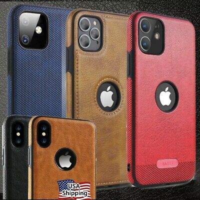 For iPhone 11  8  X  XR  SLIM Luxury Leather Back Ultra Thin Soft  Case Cover