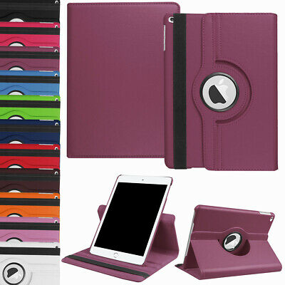 For iPad 10-2 2019 7th Generation 360 Rotating Leather Smart Stand Case Cover