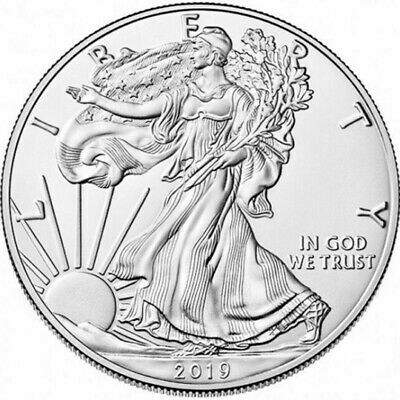 2019 1 oz American Silver Eagle 1 GEM Commemorative Coin Collection Gift US 10X