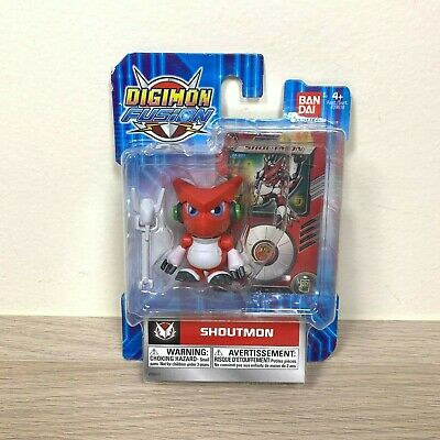 Bandai Digimon Fusion Shoutmon Mini Action Figure with Trading Card Dated 2013