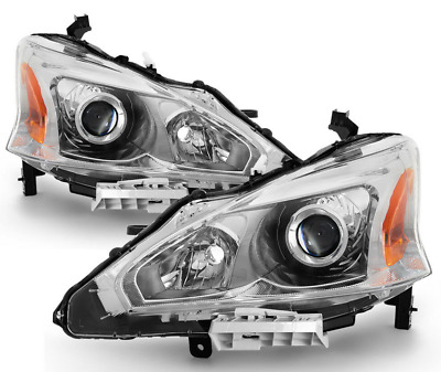 New Pair Set for 13-15 Altima 4dr Sedan Headlights Headlamp Left Right 2013-2015