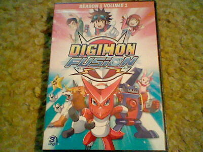NEW Digimon Fusion Season 1 Volume 1 3 DVD  5 12 hoursToei anime