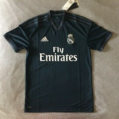 Real Madrid FC Soccer 2018 2019 Adidas Climalite Jersey Blue Small