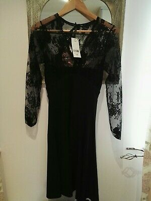 Next Kate Middleton Style Black Lace Evening Dress 8