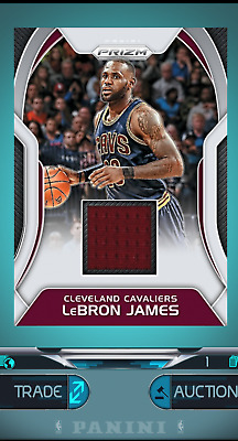 Panini Dunk Prizm Lebron James Jersey - Digital Card Cleveland Cavaliers