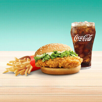 5 McDonalds Combo Meal Cards