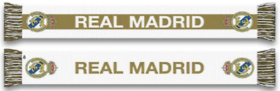 NEW Real Madrid 2020 Reversible Winter Scarf Official White Gold Ronaldo