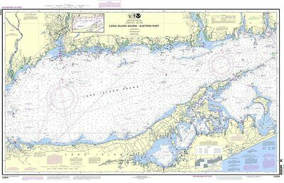 NOAA Nautical Paper Chart of Long Island Sound EastEastern 44th Edition 12354