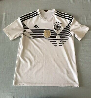 Germany 2018 Kids White Home adidas Soccer Jersey Boys XL Youth World Cup Used