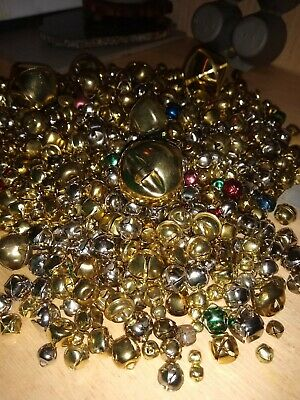 Lot 750- Metal JINGLE BELLS - ASSORTED SIZESColors 4-lbs Christmas Crafts