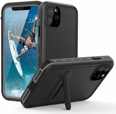 For Apple iPhone 11 Pro Max Waterproof Case w Screen Protector - kickstand
