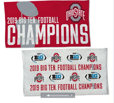 2019 BIG Ten Champions Ohio State Buckeyes Championship Official Towel 2 Sided