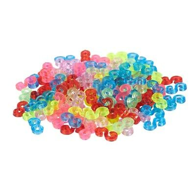 New Amazing Loom Bands Pack of 125 Colorful S-Clips F6B2