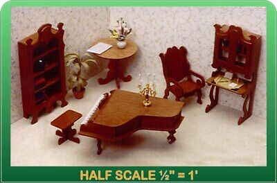 Library Dollhouse Furniture Kit - 124 Scale by Greenleaf Dollhouses