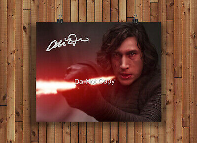 Adam Driver Kylo Ren Poster Signed Autographed Reprint 8x10 Photo Star Wars