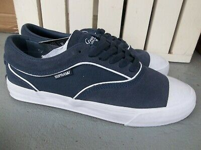 NWT MENS SUPRA HAMMER VTG SNEAKERSSHOES SIZE 9-NAVYWHITE-BRAND NEW FOR 2020