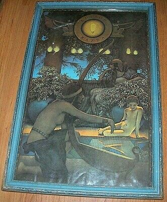 MAXFIELD PARRISH EGYPT PRINT SIZE is15x 9 12 FRAMED is17x 11 from 1922