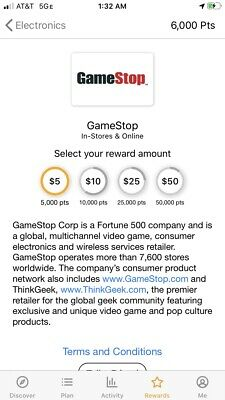 2000 Free Points For Gamestop Gift Card 5-50