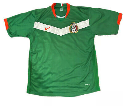 2006 Mexico Nike Soccer Green World Cup Germany Rafa Marquez Rare Jersey Size XL