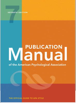 E-Edition Publication Manual of the American Psychological Association 7th Edi