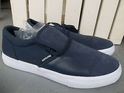 NWT MENS SUPRA CUBA SNEAKERSSHOES SIZE 9-NAVYWHITE-BRAND NEW FOR 2020 SALE