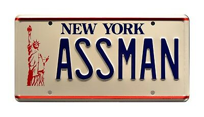 Seinfeld  Cosmo Kramers Impala  ASSMAN  STAMPED Replica Prop License Plate