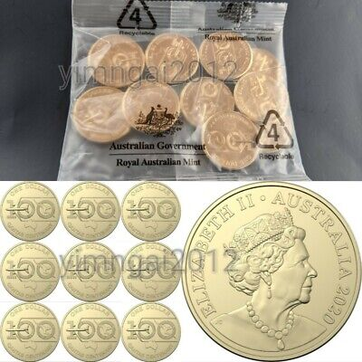 2020 Qantas Centenary 1 Mint Bag of 10 Coins Uncirculated Latest Release