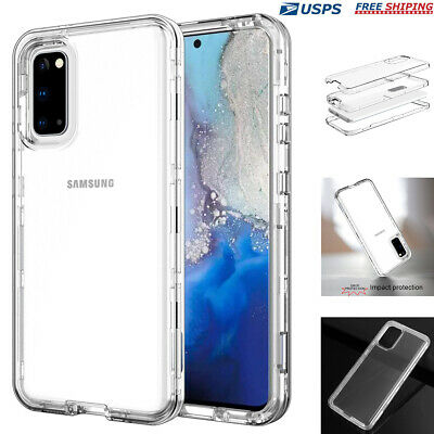 For Samsung Galaxy S20- Note 20 Ultra  Heavy Duty Shockproof Clear Case Cover