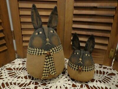 New Large Size Primitive Roly Poly Black BunnyRabbitSpringEaster
