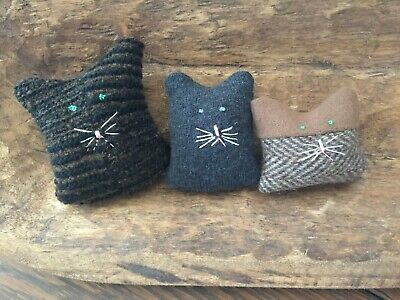 Primitive Baby Kitty Cats Bowl Fillers Set of 3   Ornies